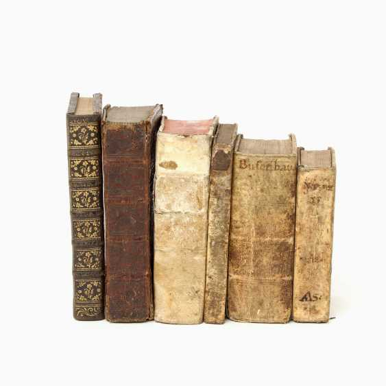 "6-piece collection of religious writings, 17. /18. Century, for example, 1 x, Andreas Leuckart / Franciso Nepven, ""Conside; - photo 2"