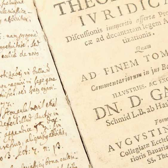 "6-piece collection of religious writings, 17. /18. Century, for example, 1 x, Andreas Leuckart / Franciso Nepven, ""Conside; - photo 5"