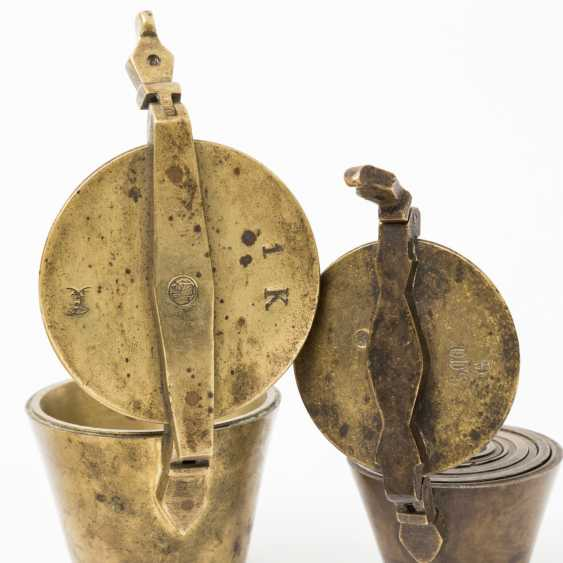 Lot of two Bavarian sets of Cup weights 19. Century, - photo 2