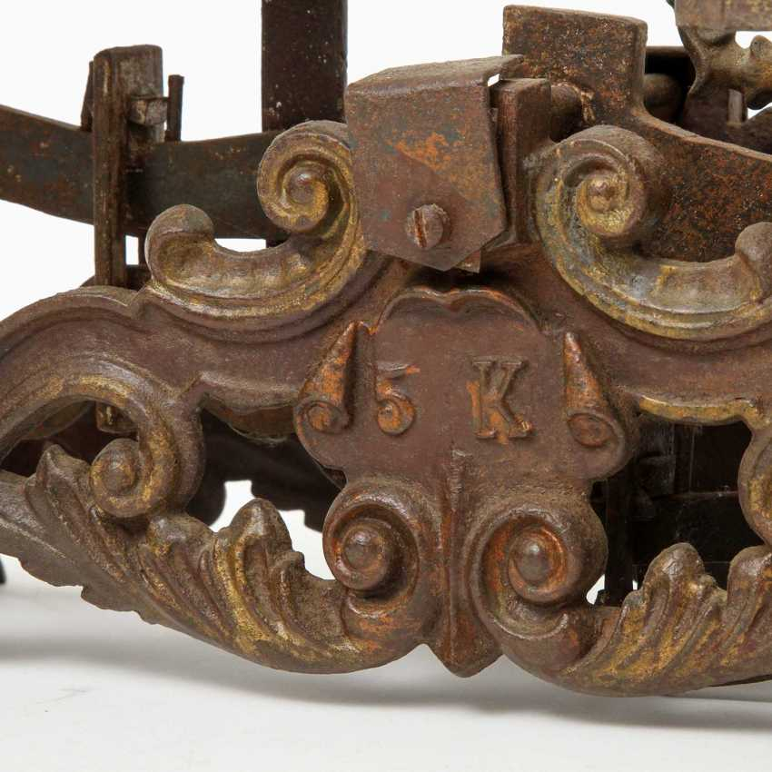 Pair of richly decorated bench scales, probably Germany, - photo 3