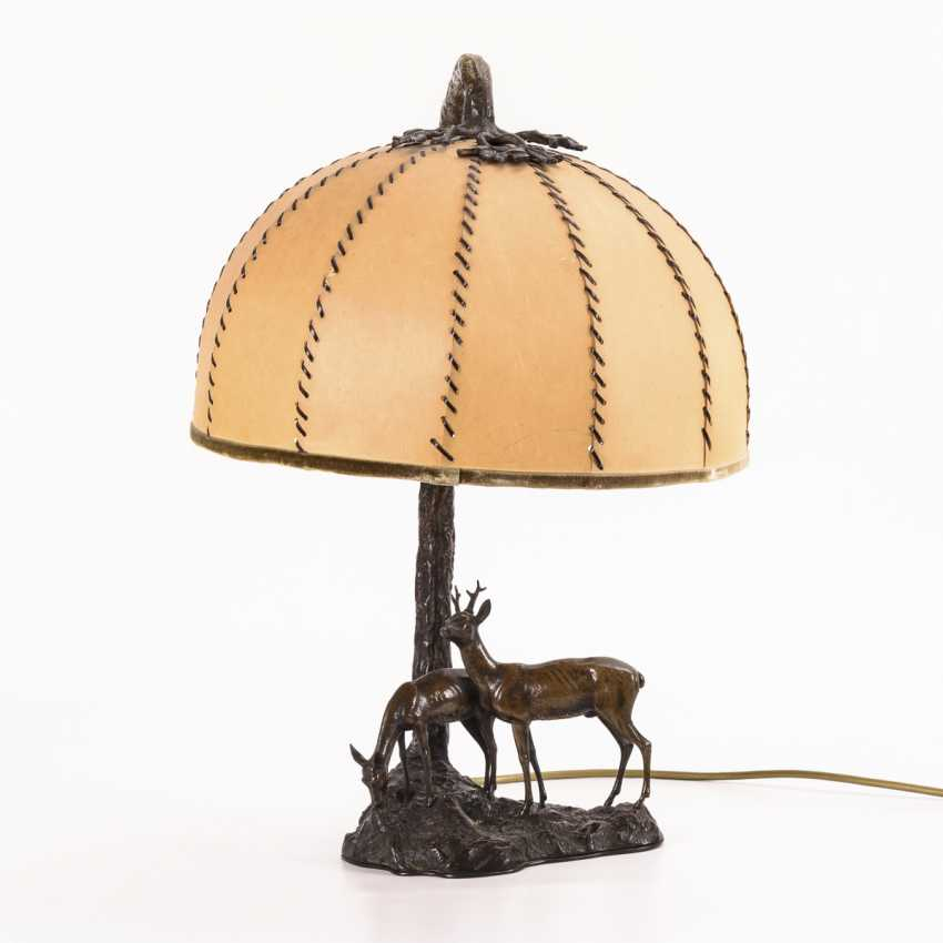 Table lamp with deer group - photo 1