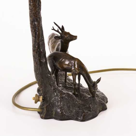 Table lamp with deer group - photo 2