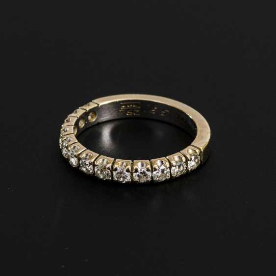 Half memory ring with diamonds - photo 1