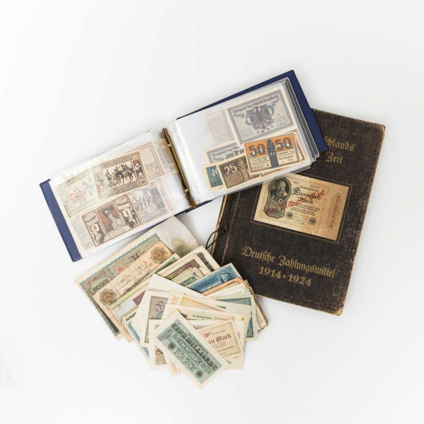 Collection of hist. German Bank notes 1.H. 20. Century - a number of emergency bills such as - photo 1