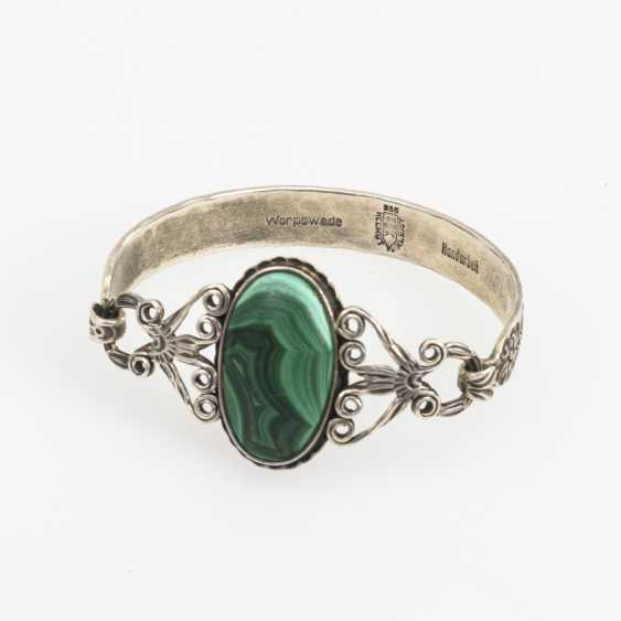 Designer bangle with malachite - photo 1
