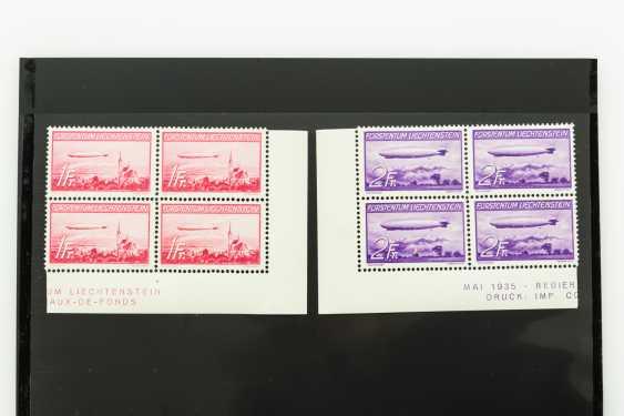 Liechtenstein 1936, MiNr. 149 /50, post office fresh 4 corner edge blocks, - photo 1
