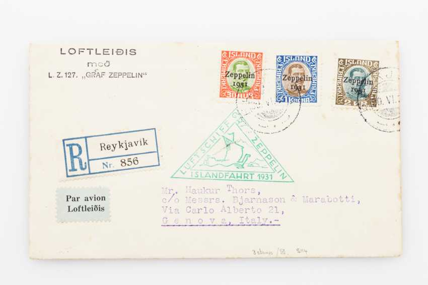 Zeppelin post, Iceland travel - 1931, R-letter to Italy - photo 1