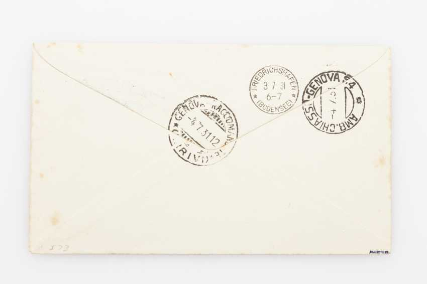 Zeppelin post, Iceland travel - 1931, R-letter to Italy - photo 2
