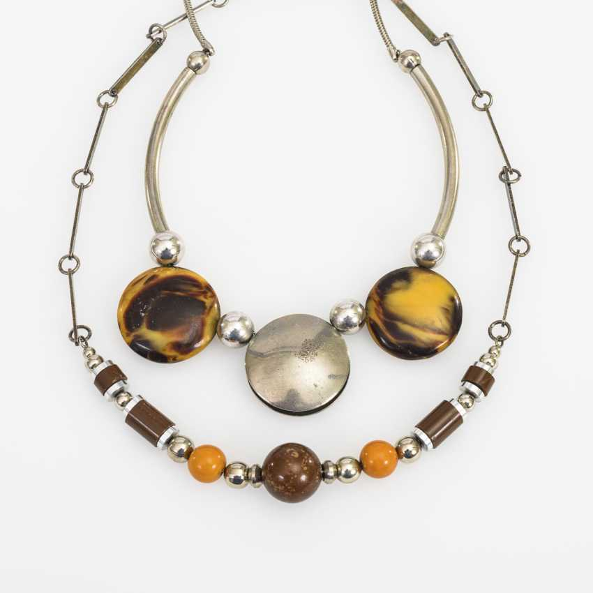 2 Art Deco fashion jewelry necklaces - photo 1