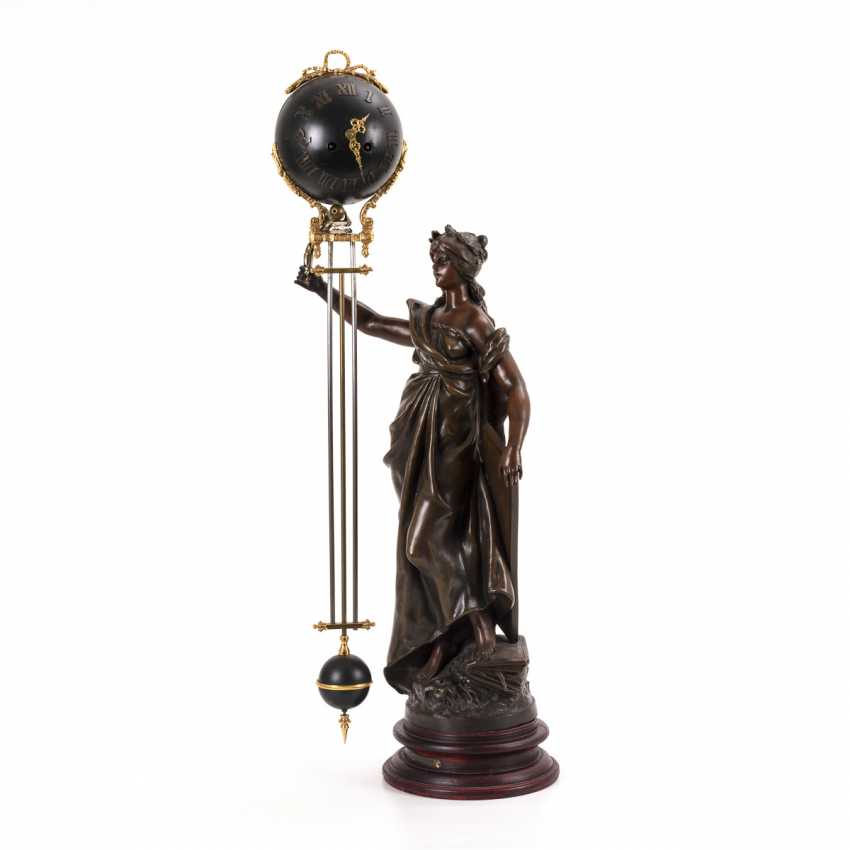 Rocking pendulum clock with allegory of science - photo 1