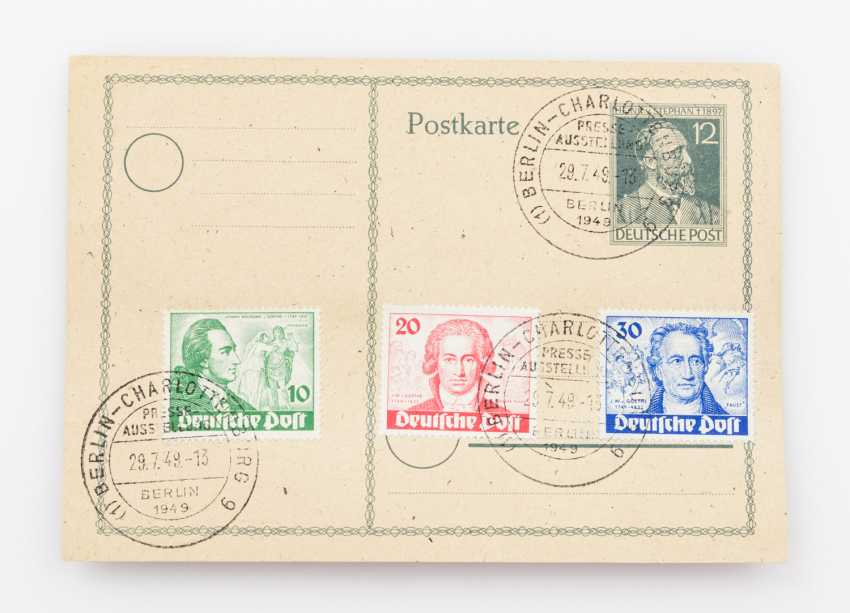 Germany after 1945 - Berlin, special edition of the 200. Birthday Of Goethe, - photo 1