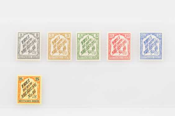 German Empire - zähldienst stamps for Baden, 1905 (Mi.-Nos. 9-14), - photo 1