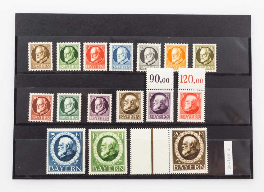 German States - Bavaria, stamps of king Ludwig III 1914, - photo 1