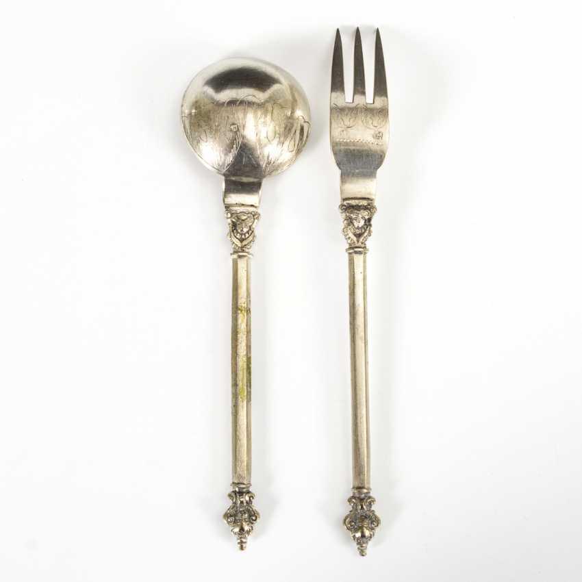 Baroque silver cutlery - photo 2