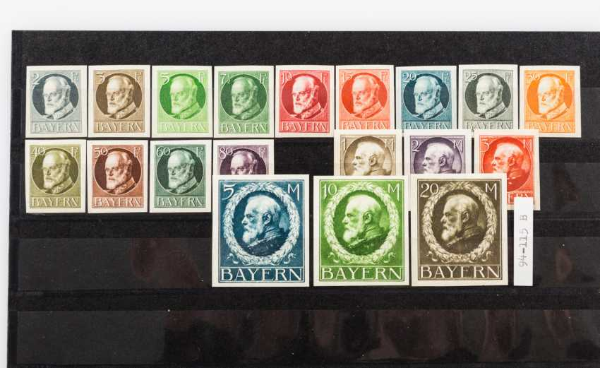 German States - Bavaria, approximately 95 mint stamps from about 1900, - photo 2