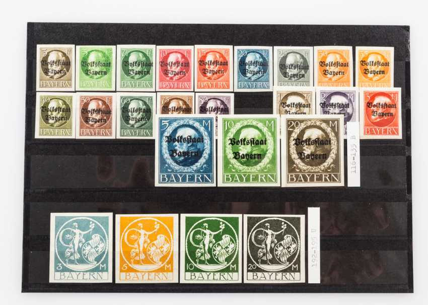 German States - Bavaria, approximately 95 mint stamps from about 1900, - photo 3
