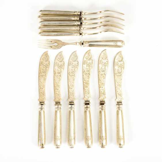 Wilhelminian style fish cutlery - photo 1