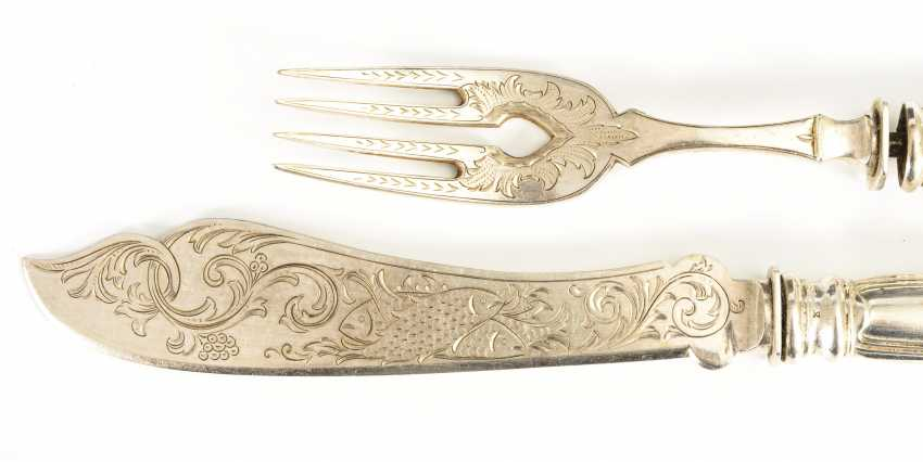 Wilhelminian style fish cutlery - photo 2
