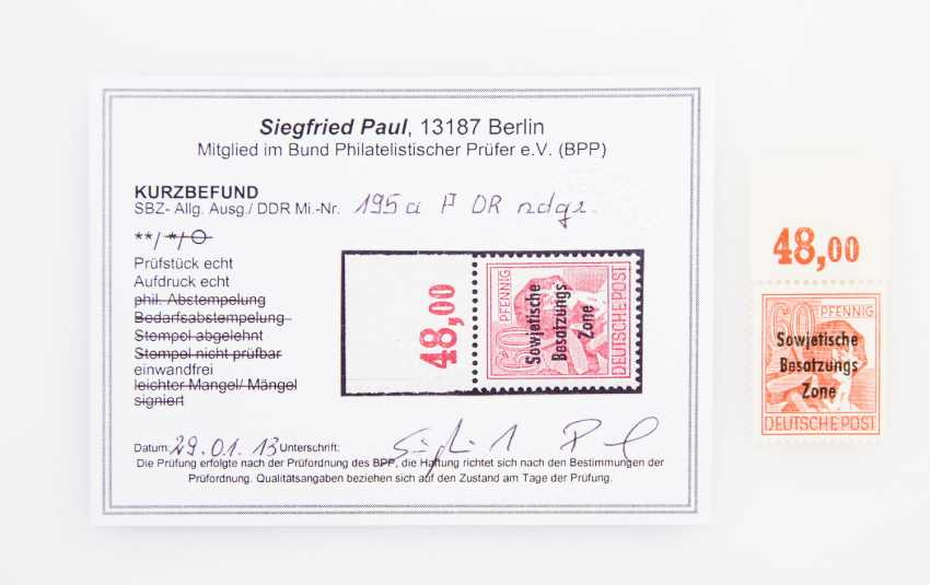 SBZ /General. Expenditure - Mi. No 195a P DR ndgz., - photo 1