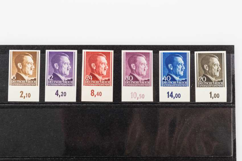 General government - 1940, ungezähntes collection of 4 plug-in cards, - photo 2