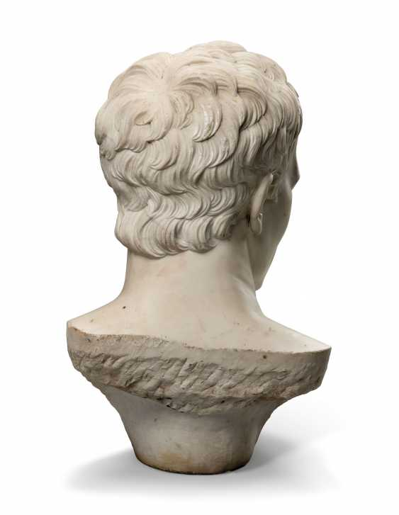 AN ITALIAN WHITE MARBLE OVER-LIFESIZE BUST OF THE EMPEROR NAPOLEON - photo 4