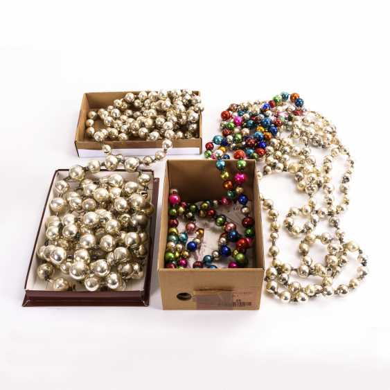 4 glass ball chains for the Christmas tree - photo 1