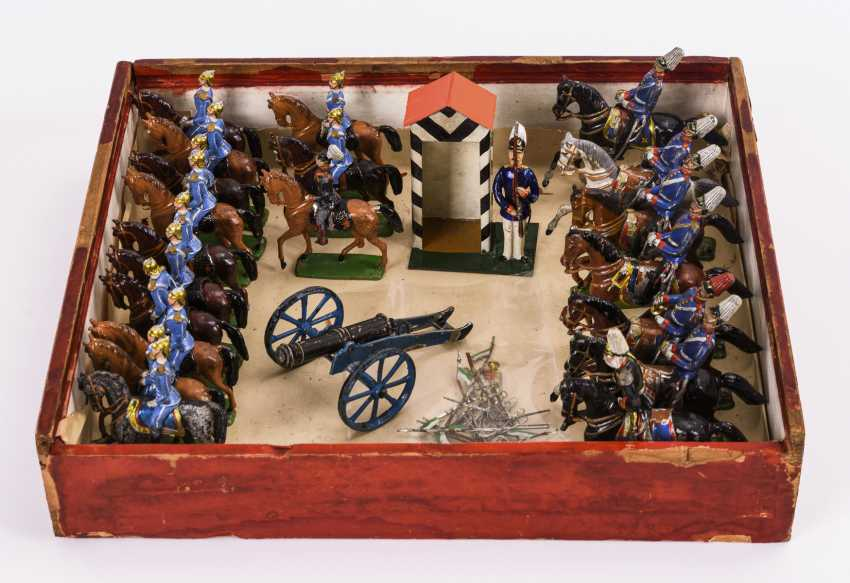Mixed lot of early lead figures / tin figures in original box - photo 2