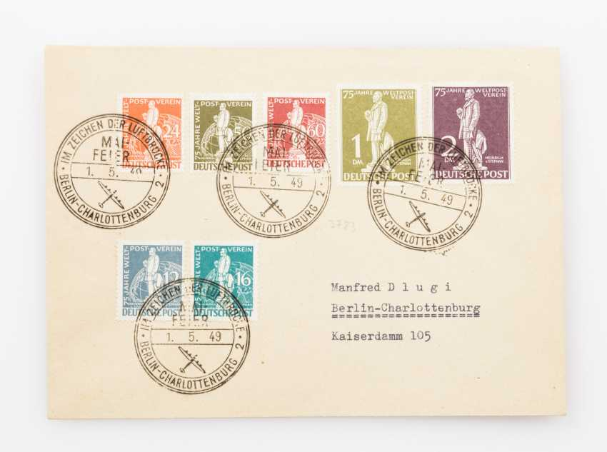 Berlin - 1949, collector letter with UPU issue - photo 2