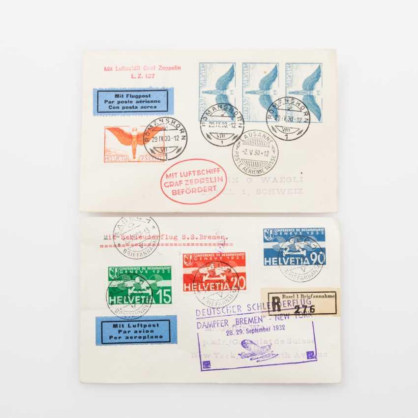 Switzerland - 193, 1932, two flight vouchers, - photo 1