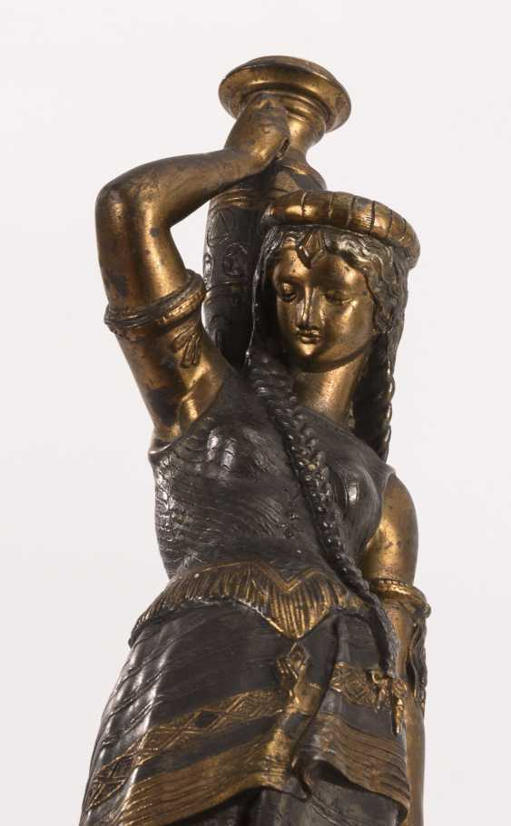 Lamp base with southern woman - photo 2