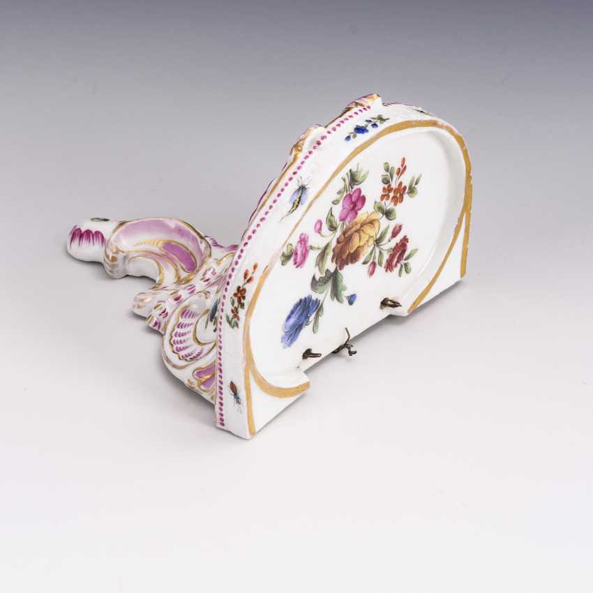 Console with flower painting - photo 2
