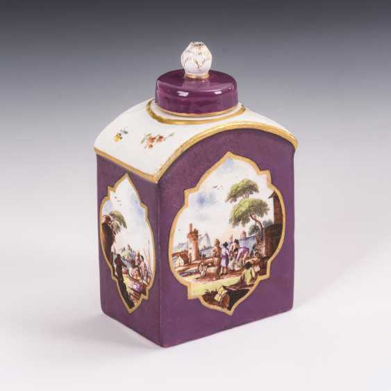 Tea caddy with Kauffahrt painting - photo 1