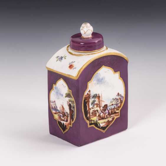 Tea caddy with Kauffahrt painting - photo 2