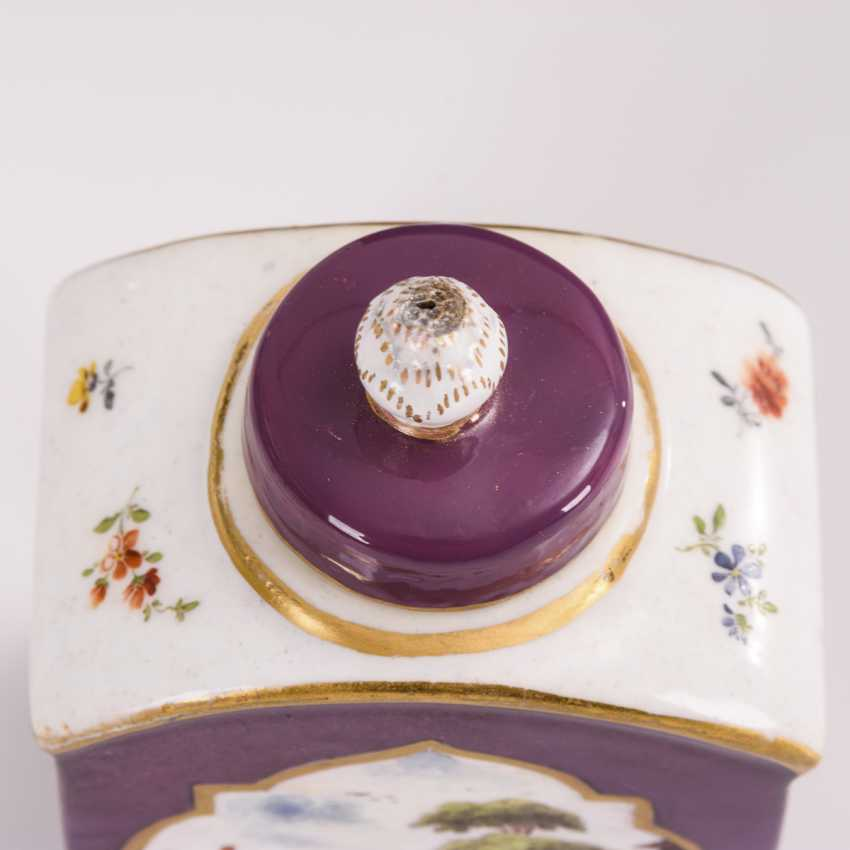 Tea caddy with Kauffahrt painting - photo 5