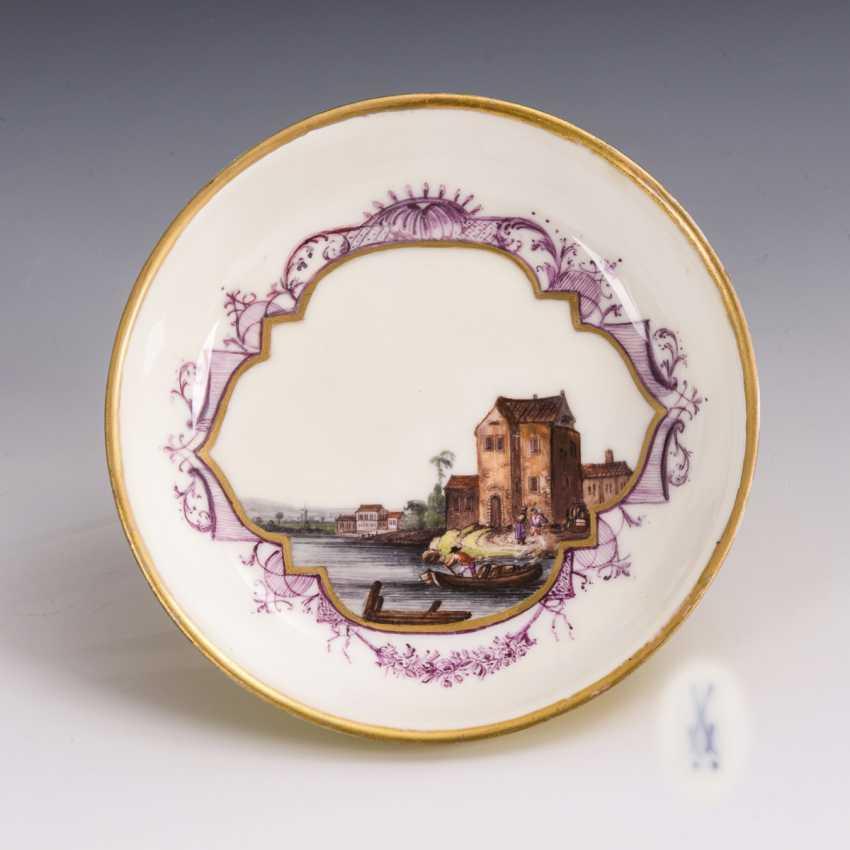 Baroque saucer with Kauffahrte painting - photo 1