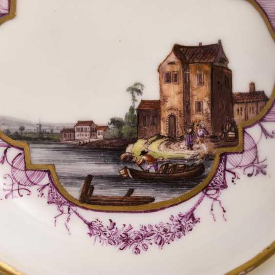 Baroque saucer with Kauffahrte painting - photo 2