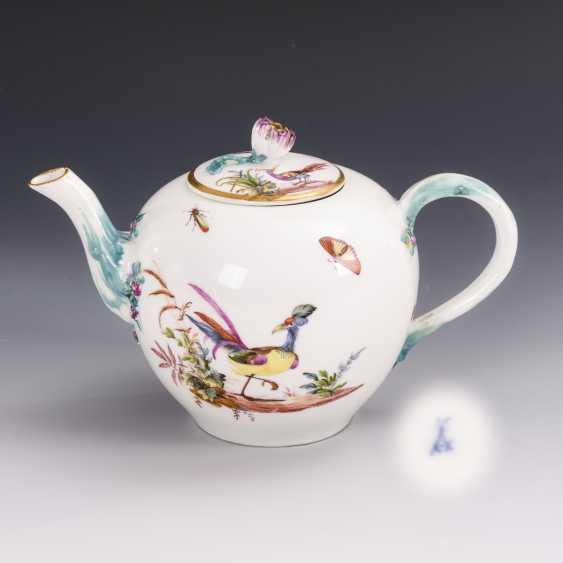 Teekännchen mit Vogelmalerei - photo 1