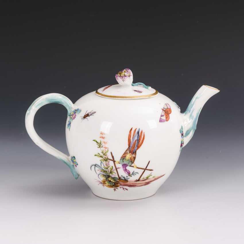 Teekännchen mit Vogelmalerei - photo 2