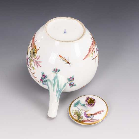 Teekännchen mit Vogelmalerei - photo 3
