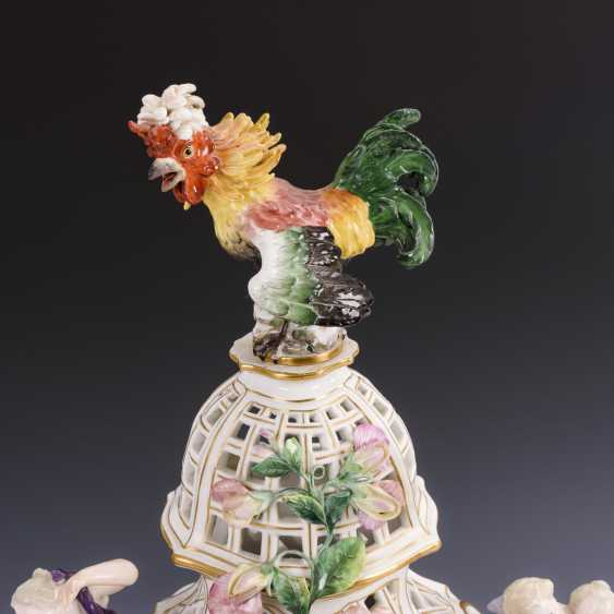 Porcelain clock with cock - photo 4