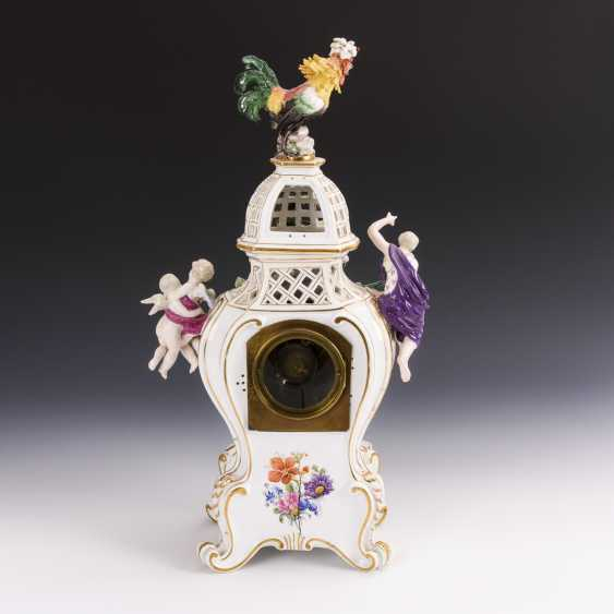 Porcelain clock with cock - photo 6