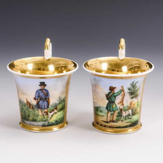 Pair of showcase cups with a hunting motif - photo 2