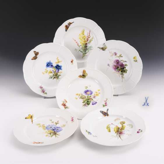 6 dinner plates with soft painting - photo 1
