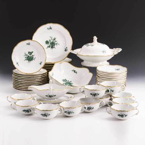 Dinner service with copper-green flower painting - photo 1