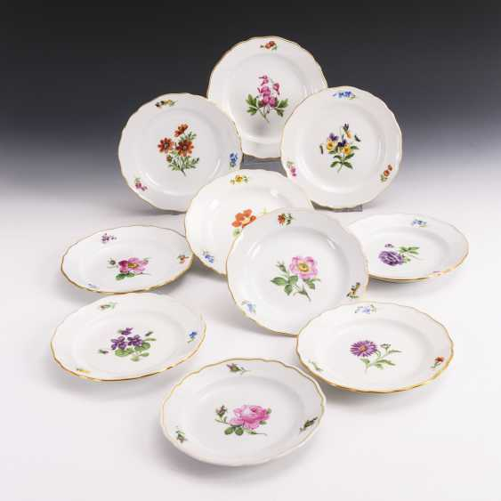 10 plates with flower painting - photo 1