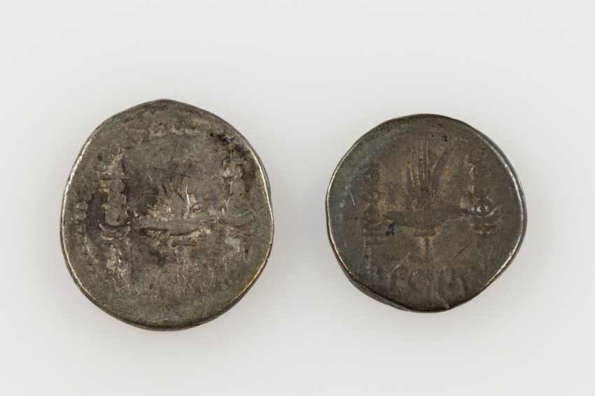 2 piece small vintage Antique the ROM. Republic /silver consisting of 1 x ROM. Republic of - 1 Denar 30 /40s BC, Triumvir Antonius, - photo 2