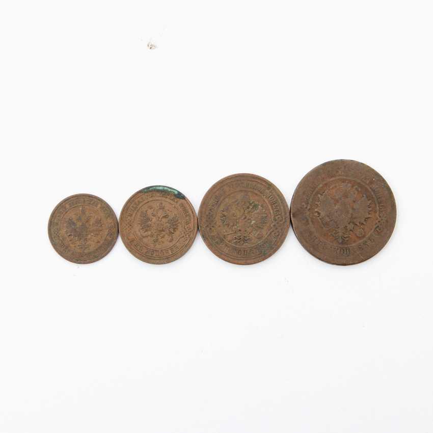 Small set of Russian kopecks of the tsarist Empire - consisting of 1 x 5 kopeks 1880, PP., heavily rubbed, edge, error, - photo 1