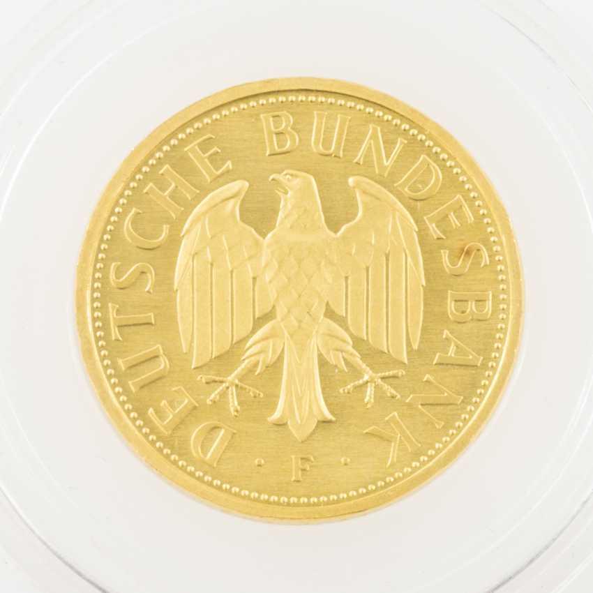 BRD /GOLD - 1 DM 2001 /F, farewell DM, UNC., encapsulated, - photo 2