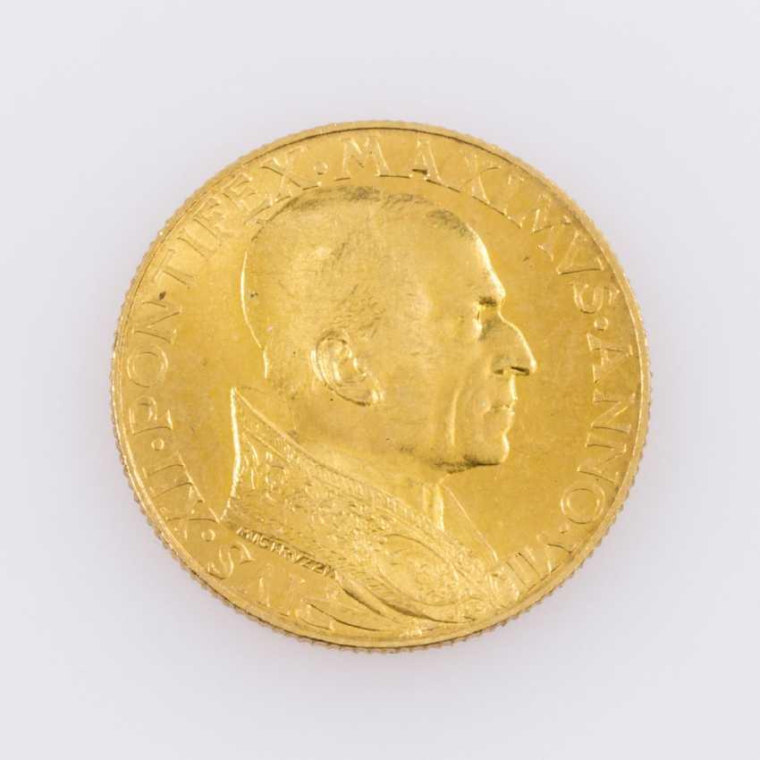 Rare! Vatican GOLD 100 Lire 1945, - photo 1