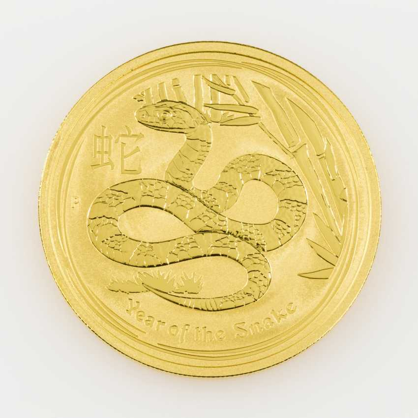 Australia /GOLD - 1 oz Lunar II year of the snake, - photo 2